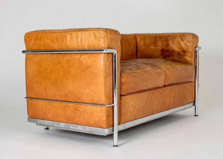 Steel Cognac leather