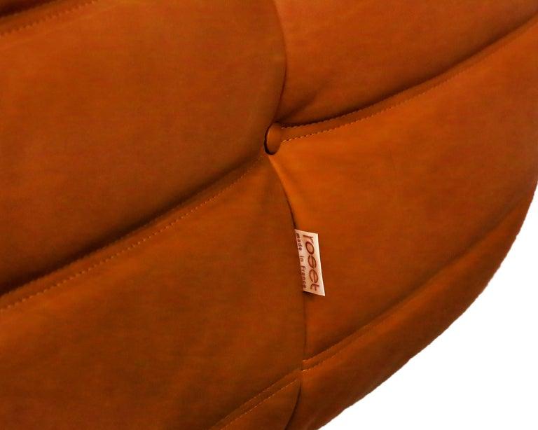 Late 20th Century Cognac Leather Ligne Roset Togo Sofa Set, Designed by Michel Ducaroy, 1998 For Sale