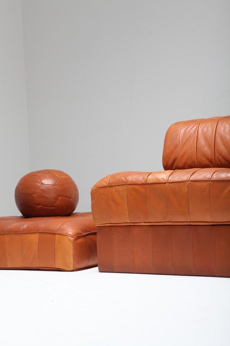 Cognac Leather Patchwork Ds 88 De Sede Sectional Sofa At