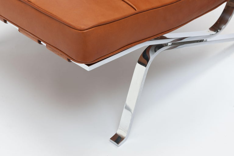 Cognac Leather RH301 Lounge Chair by Robert Haussmann 'Pair Available' For Sale 2