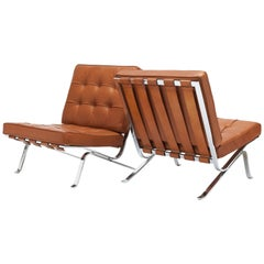 Cognac Leather RH301 Lounge Chair by Robert Haussmann 'Pair Available'