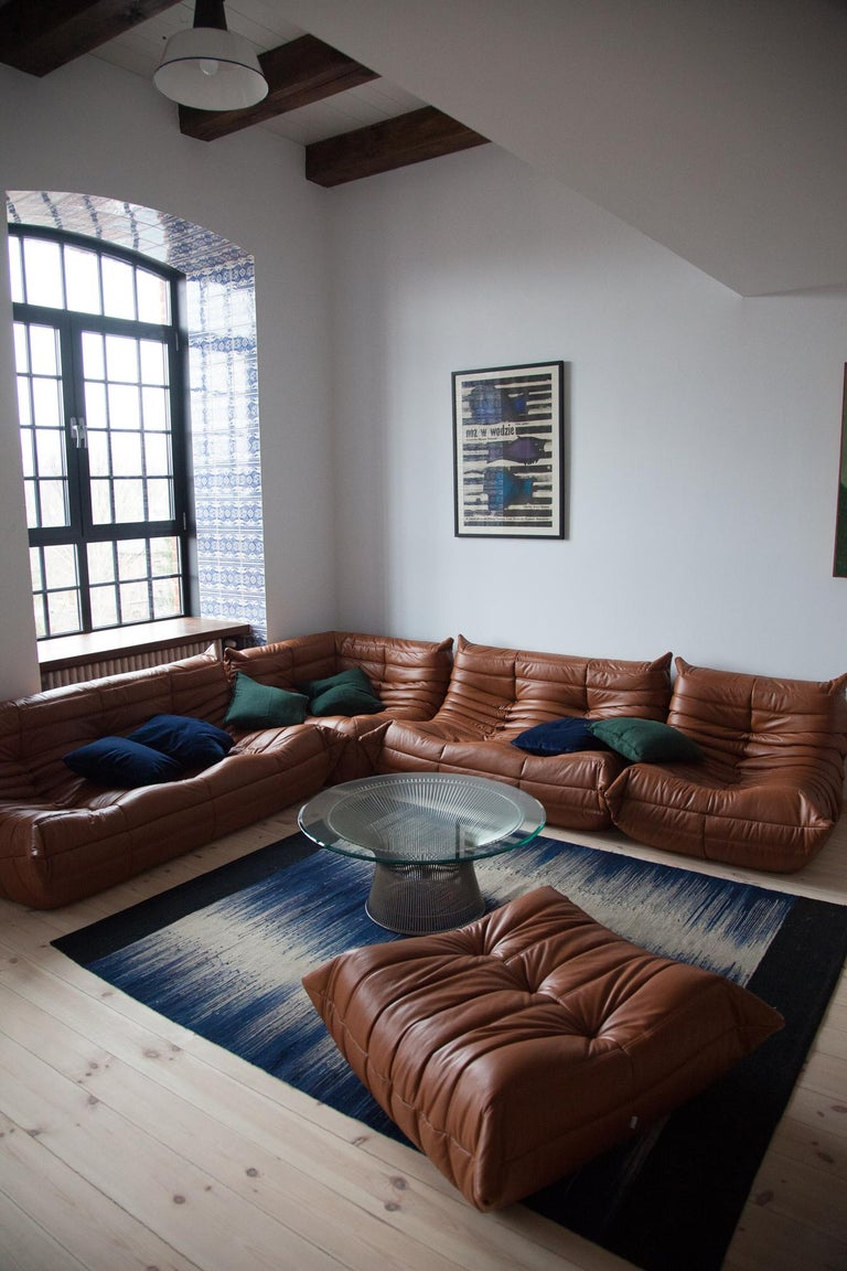 Cognac Leather Togo Living Room Set By Michel Ducaroy For