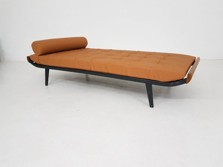Cognac leatherette daybed model