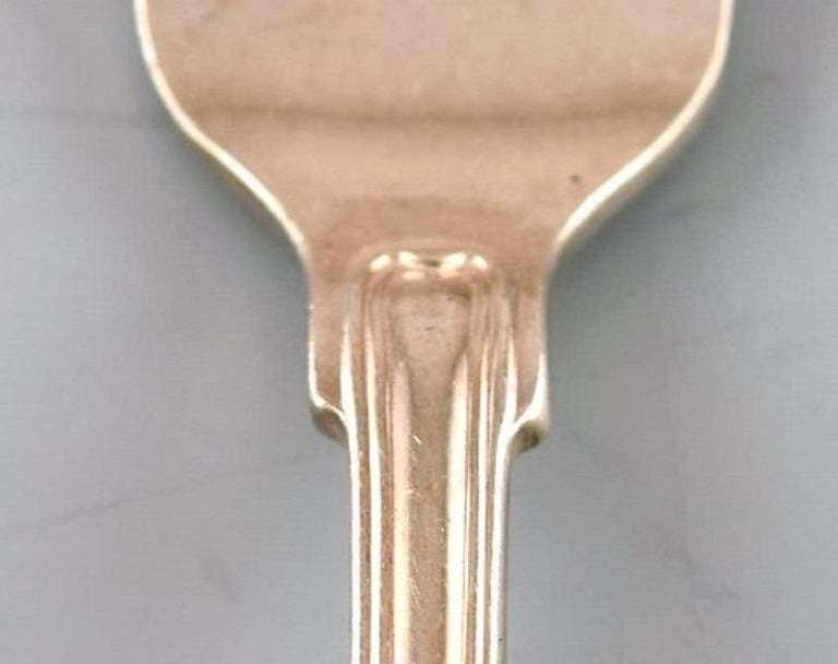 Art Deco Cohr Oyster Fork, Silver Cutlery, 1940s-1950s, 4 Pieces For Sale