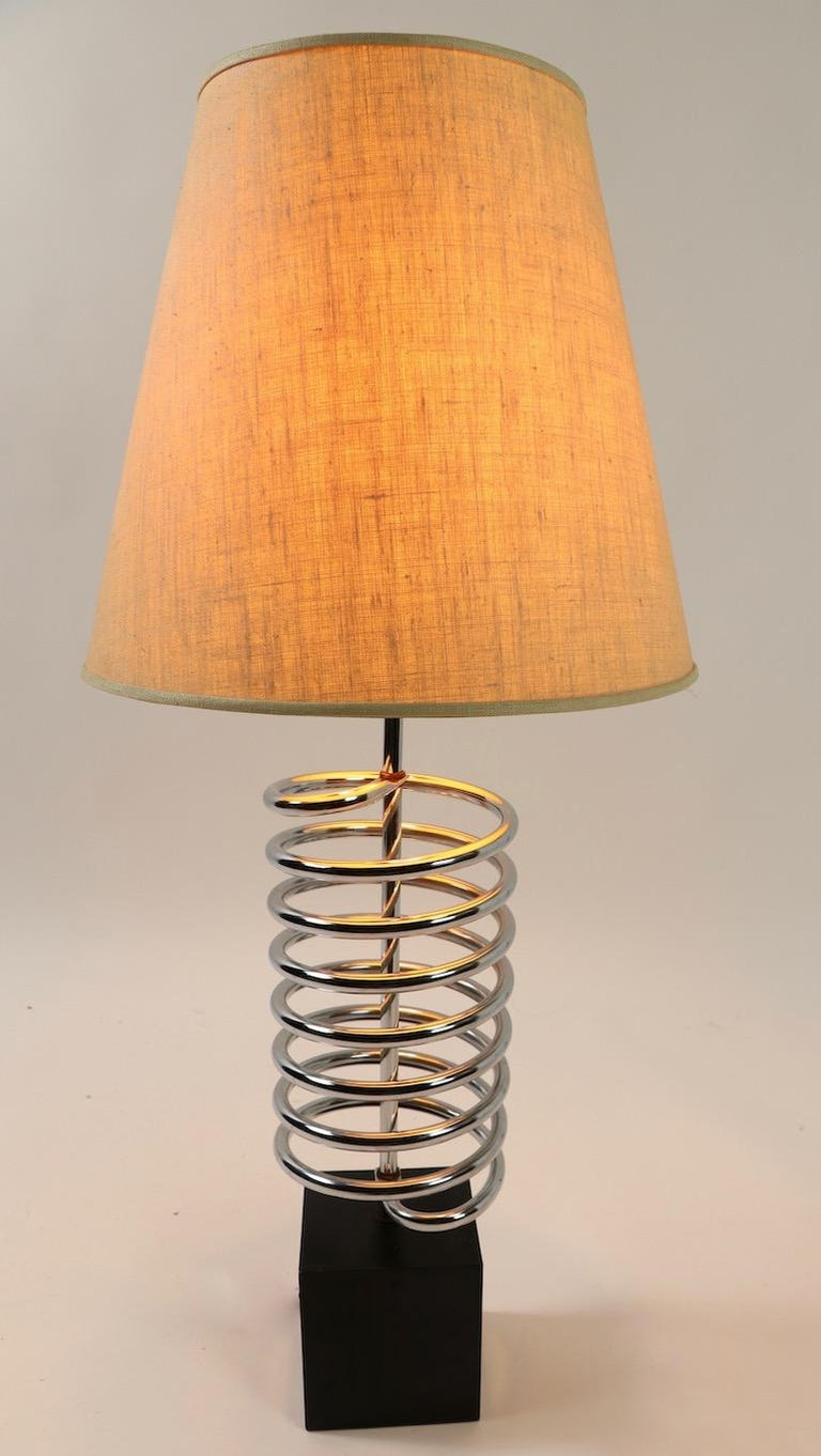 Coil Table Lamp by Sonneman For Sale 1