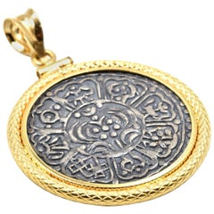 Coin Pendant 18 Karat Yellow Gold