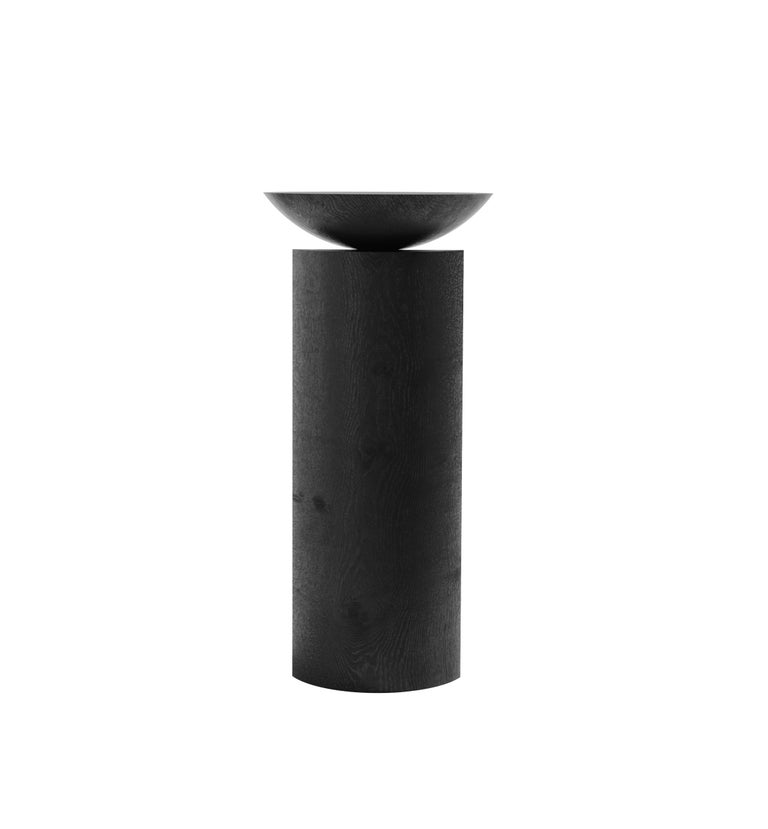 Minimalist Coito Sculptural Side Table in Tropical Hardwood by Pedro Paulo Venzon For Sale