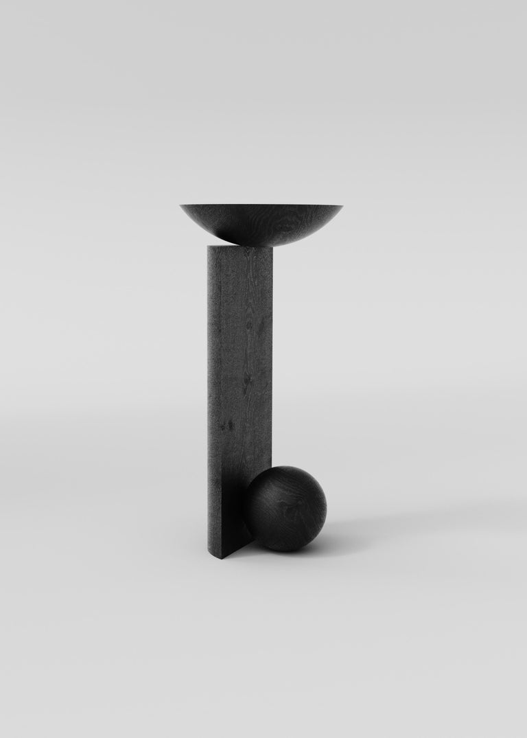 Hand-Crafted Coito Sculptural Side Table in Tropical Hardwood by Pedro Paulo Venzon For Sale