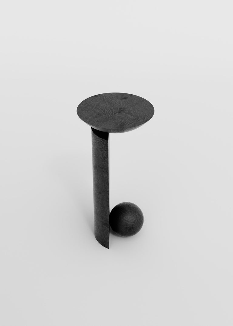 Coito Sculptural Side Table in Tropical Hardwood by Pedro Paulo Venzon For Sale 2
