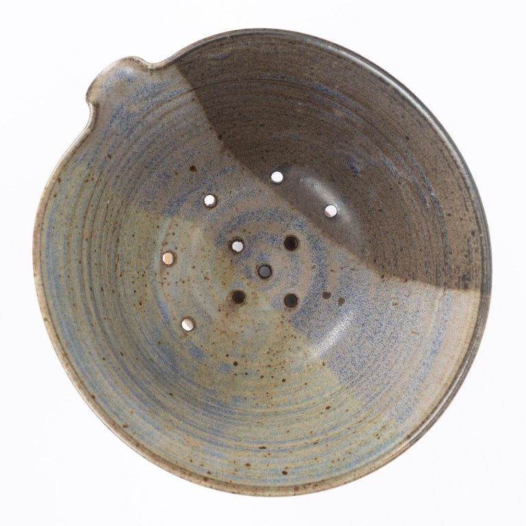 Colander Style Studio Pottery Bowl For Sale 5