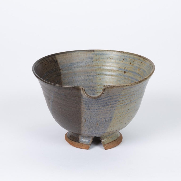 American Colander Style Studio Pottery Bowl For Sale