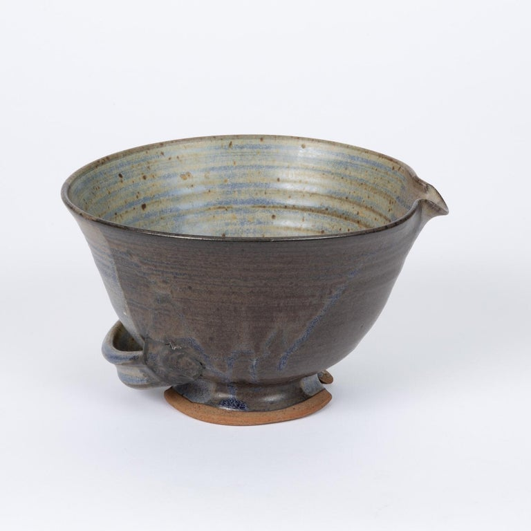 20th Century Colander Style Studio Pottery Bowl For Sale