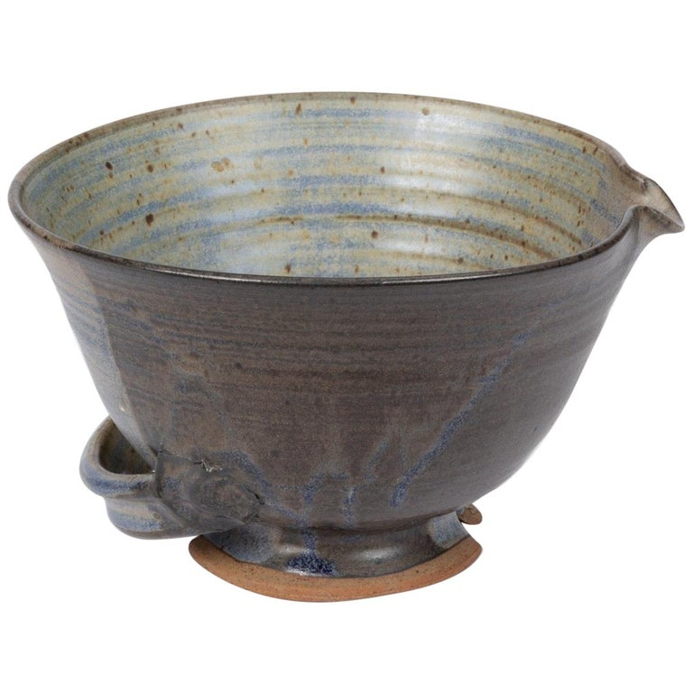 Colander Style Studio Pottery Bowl For Sale