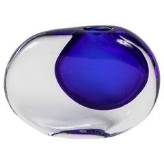 Colbalt Sasso Vase by Antonio da Ros for Cenedese