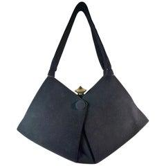 COLBERTS Black Suede Handbag