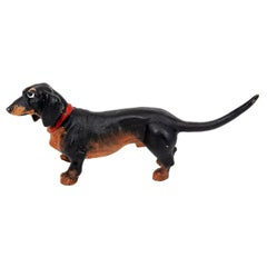 Cold Painted Bronze Dachshund