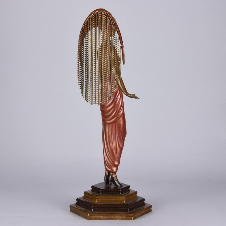 Art Deco Cold Painted Limited Edition Bronze Figure