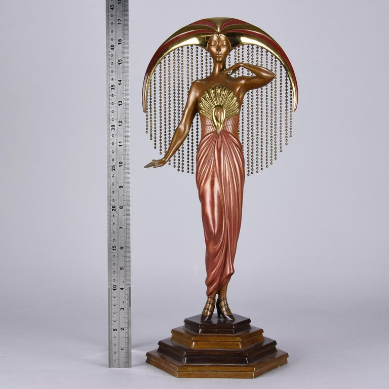 Late 20th Century Cold Painted Limited Edition Bronze Figure