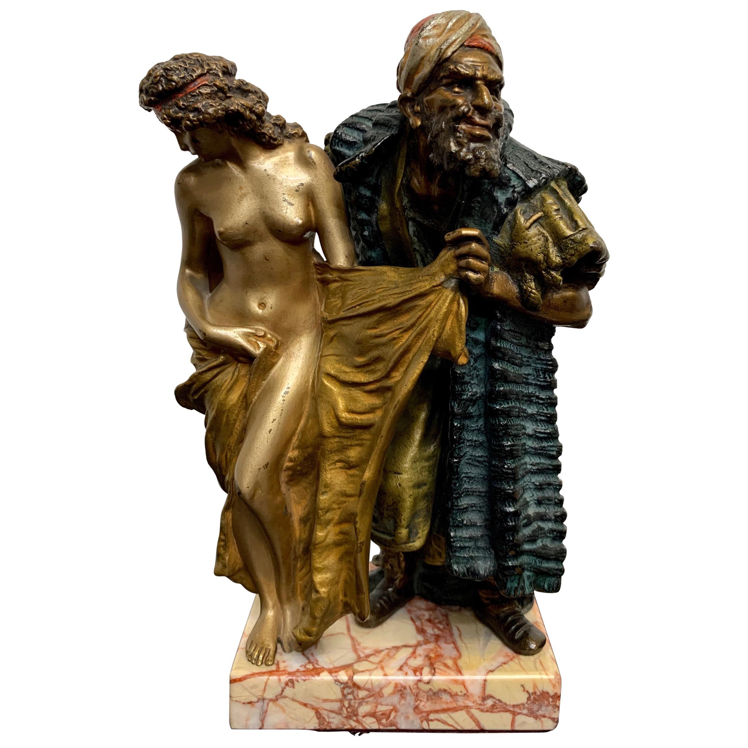 Cold Painted Orientalist Vienna Bronze by Franz Bergman