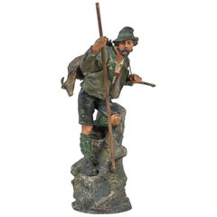 Cold Painted Vienna Bronze of a Mountaineer, Bergmann Foundry, circa 1900