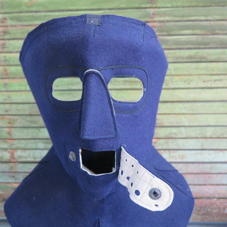 American Cold Weather Aviation Mask of Blue Cloth For Sale