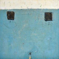 Blue Towers - Cole Morgan, Hand Signed, Oil paint on canvas, Abstract