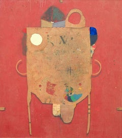 Just Red, Contemporary, Abstract, Mixed Media Painting