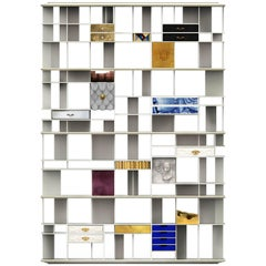 Coleccionista Bookshelf in Lacquered Wood with a Variety of Finishes