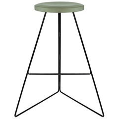 Coleman Stool, Black and Aspen, Counter Stool
