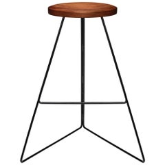 Coleman Stool, Black and Walnut, Counter Height, 54 Variations Available