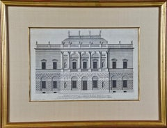 "18th C. Architectural Engraving from ""Vitruvius Britannicus"" by Colen Campbell"