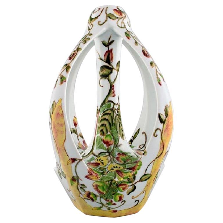 Colenbrander, Netherlands, Art Nouveau Vase in Crackled Ceramics, 1930s