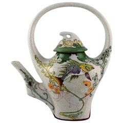 Colenbrander, the Netherlands, Art Nouveau Teapot Decorated with Coy Fish