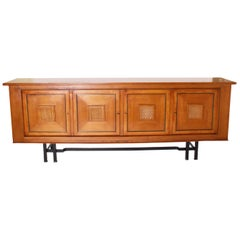 Colette Gueden Credenza with Black Metal Base, circa 1950