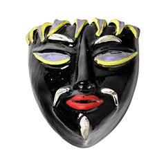 Colette Gueden Elegant Black and Colored Ceramic Mask for Le Printemps Primavera