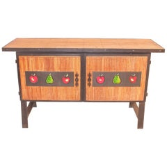 Colette Gueden French Buffet Cabinet Credenza Bamboo Le Printemps Primavera