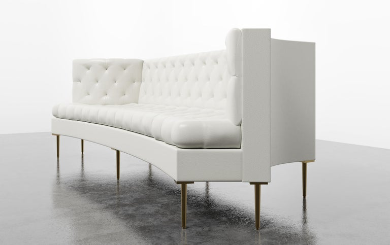Contemporary COLETTE SOFA - Modern Tufted Sofa in Luxury Charcoal Velvet For Sale