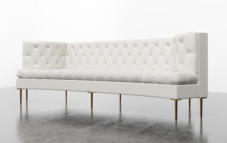 Upholstery COLETTE SOFA - Modern Tufted Sofa in Luxury Charcoal Velvet For Sale