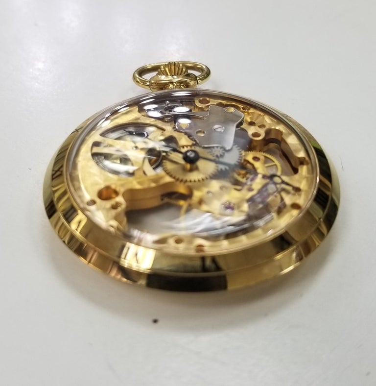 Colibri 17 Jewel Swiss Incabloc Skeleton Pocket Watch excellent . This is a beautiful timepiece that keeps great time.Never used .
