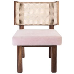 Colima Low Chair Wicker Weaved Back Set of 2, Contemporary Mexican Design