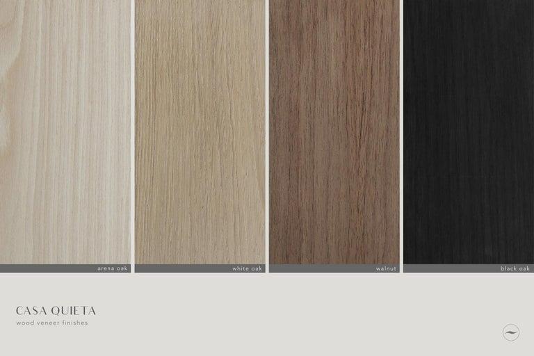 Contemporary Colima Steel and White Oak Veneer Credenza For Sale