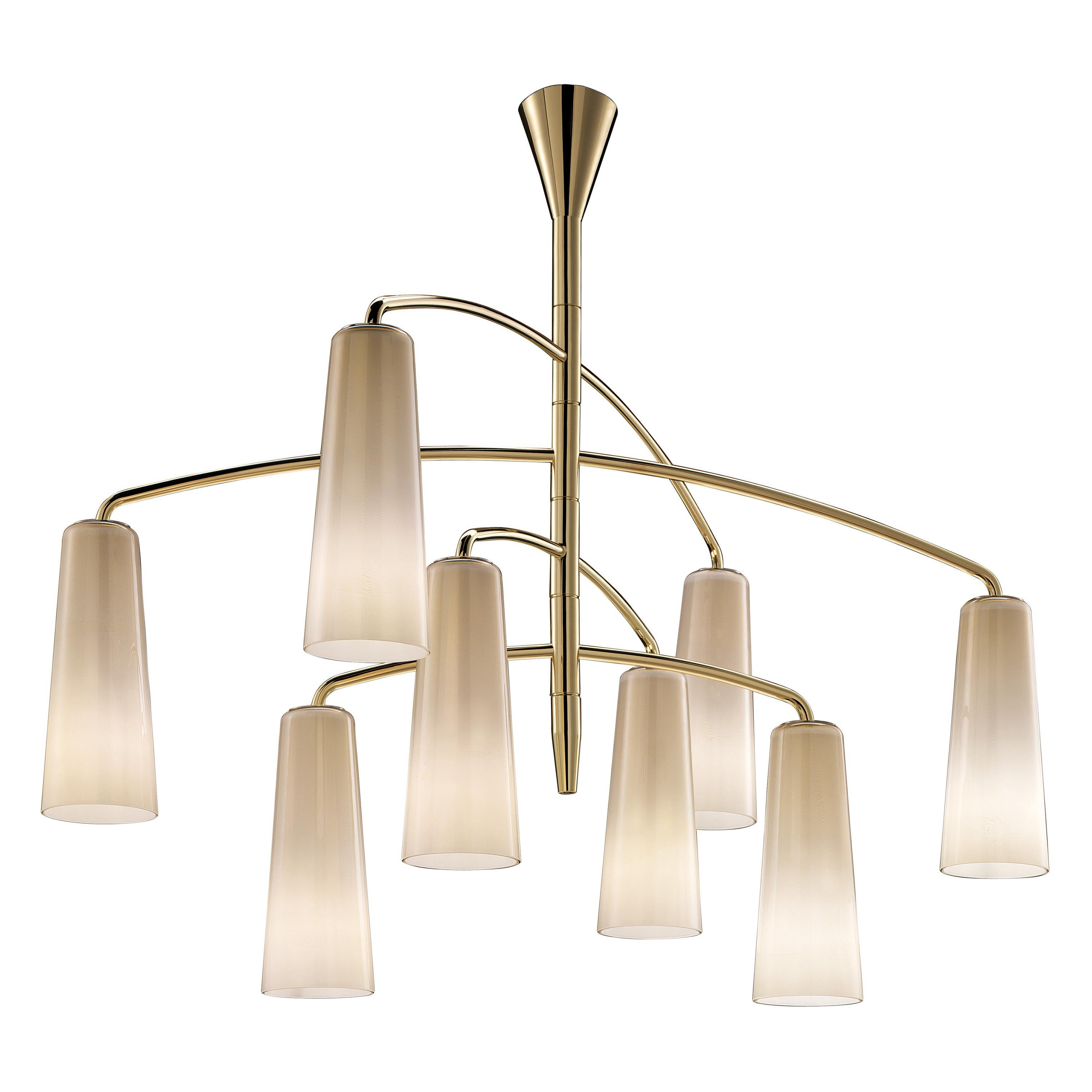 Colimacon 7206 Suspension Lamp in a Gold Finish, by Marc Sadler, Barovier&Toso