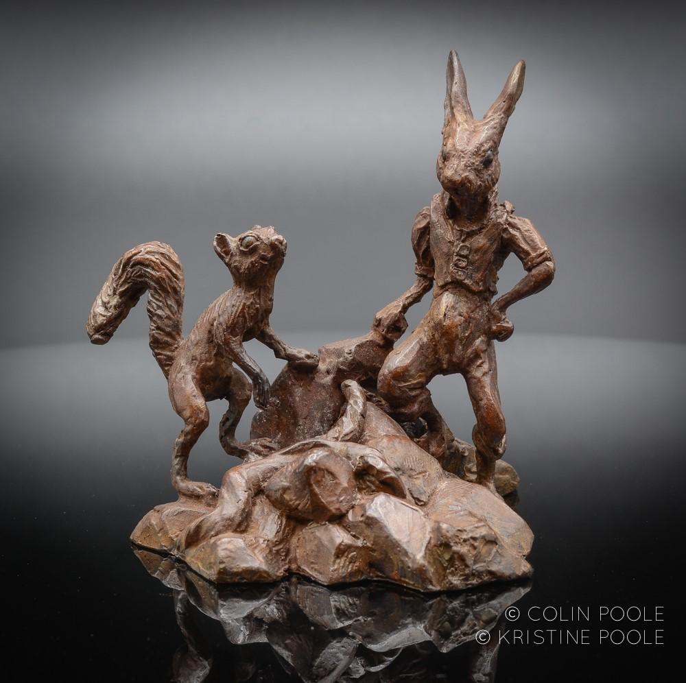 """""""Best Buddies"""" Bronze Sculpture"""