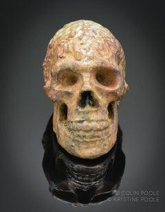 """Human Talisman Skull"" Bronze Sculpture"