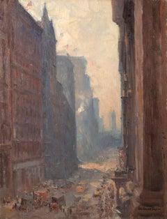 New York Street Scene (Looking Up Broadway)