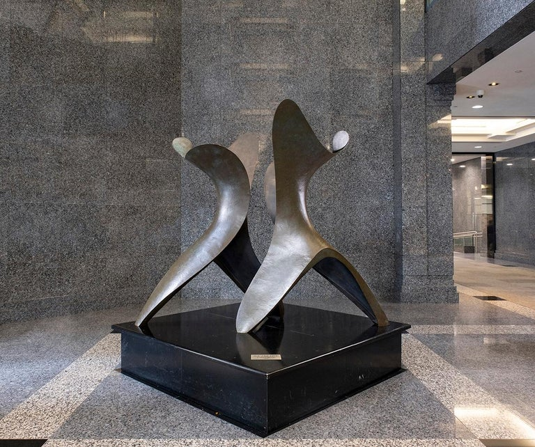 We Are One - Large, abstract, bronze, sculpture - Sculpture by Colin Gibson
