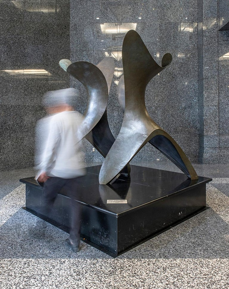 We Are One - Large, abstract, bronze, sculpture - Abstract Sculpture by Colin Gibson