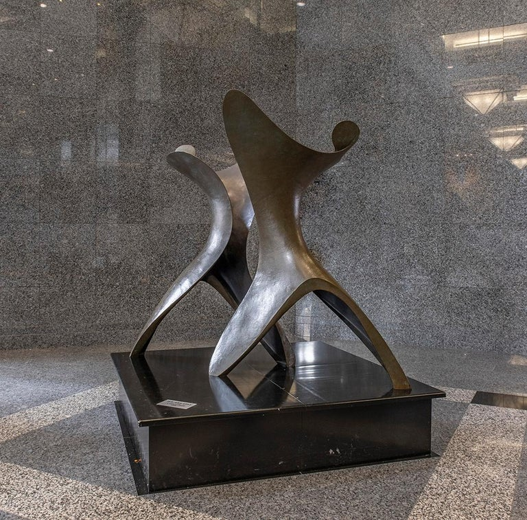 Colin Gibson Abstract Sculpture - We Are One - Large, abstract, bronze, sculpture