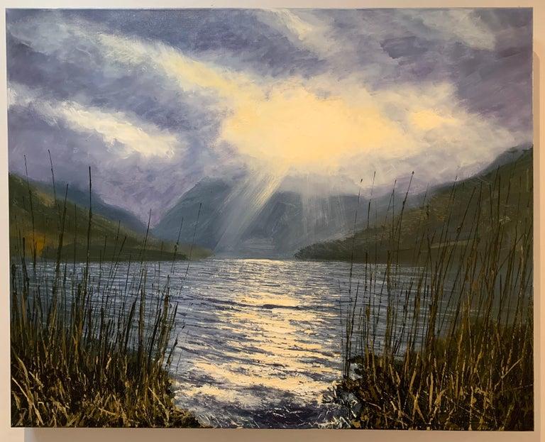 Buttermere Lake District Landscape Oil Painting by British En Plein Air Artist 1