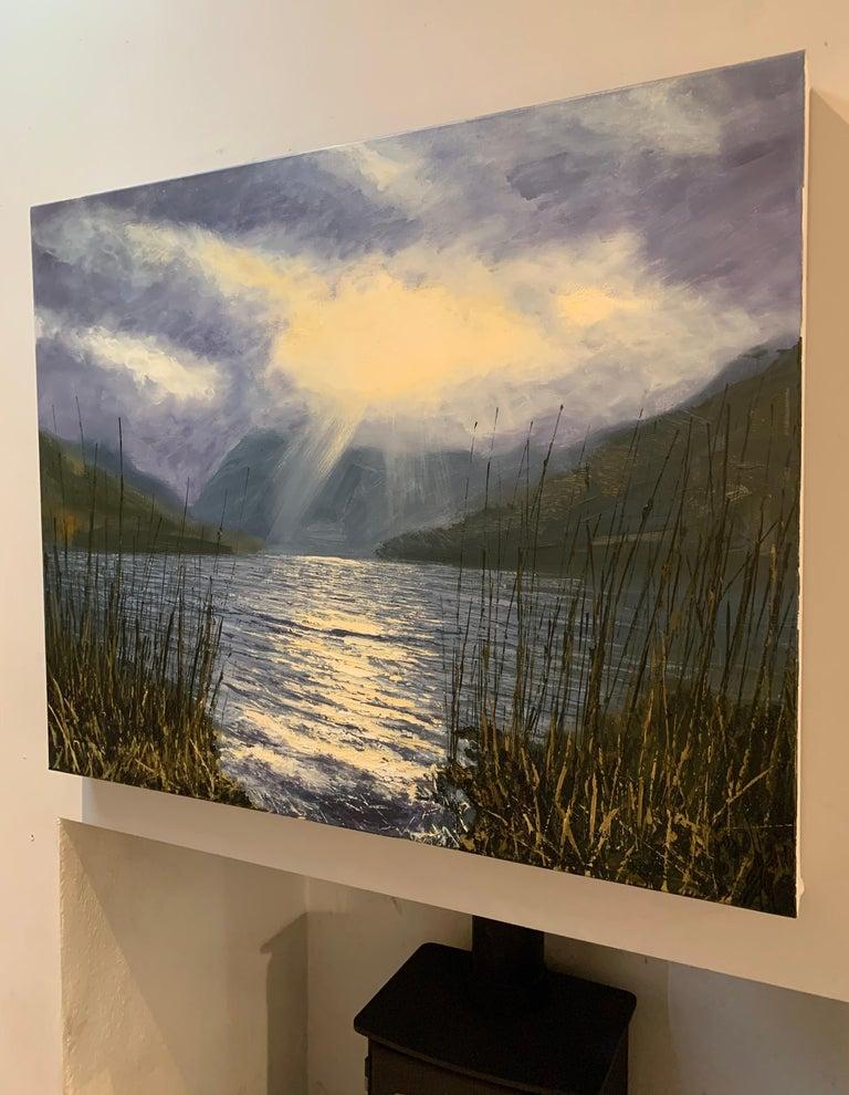 Buttermere Lake District Landscape Oil Painting by British En Plein Air Artist 2